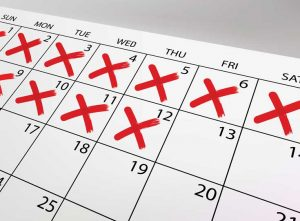 calendar- checkmark - benefits of sober monitoring - valley recovery center