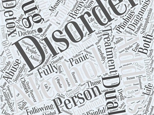 What is Dual Diagnosis - mental health word cloud - valley fresno