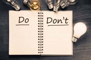 Post Rehab Dos and Don'ts - dos and donts