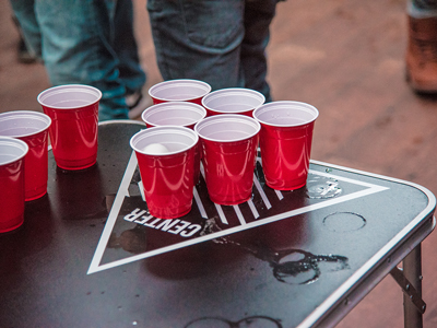 Binge Drinking on College Campuses - beer pong table