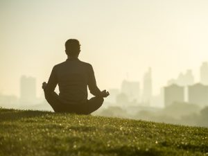 Mindfulness and Addiction - man meditating