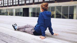 teen girl relaxing - college